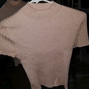 Forever 21 pink and gold crop top!!
